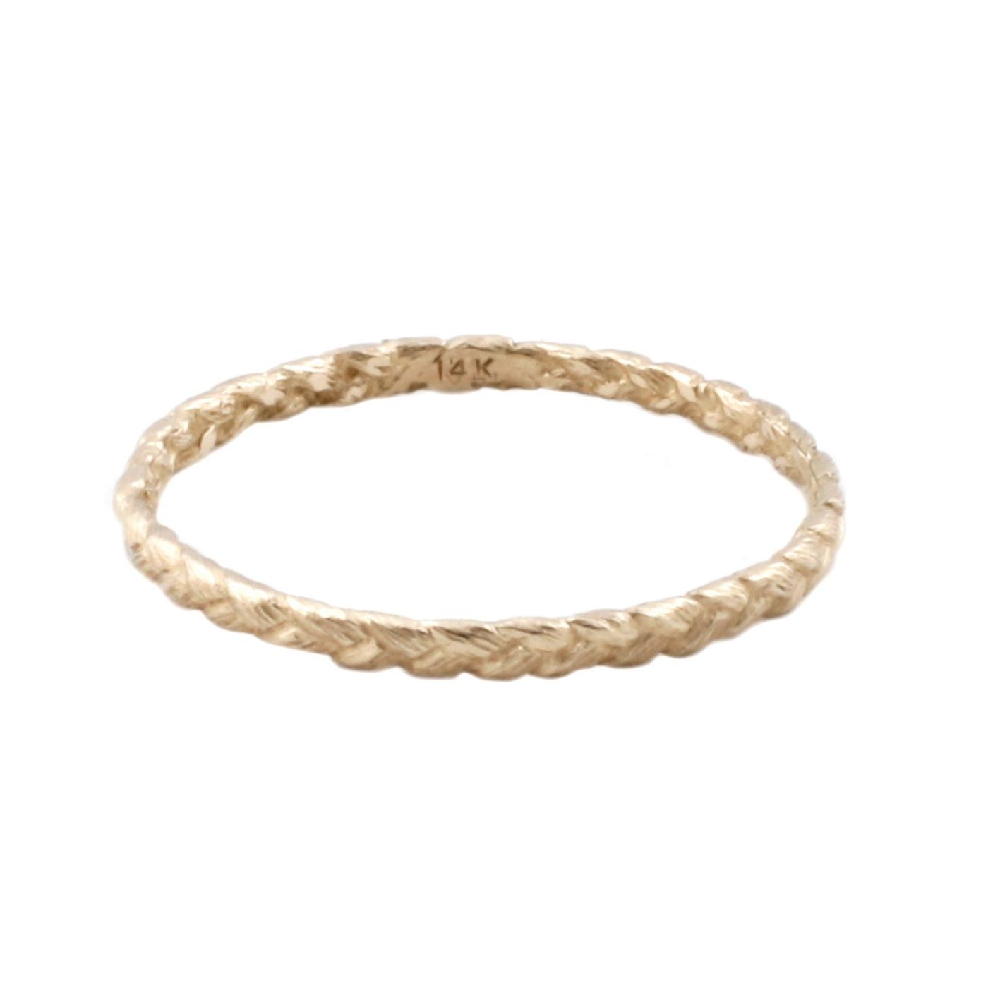 Small Gold Braid Ring