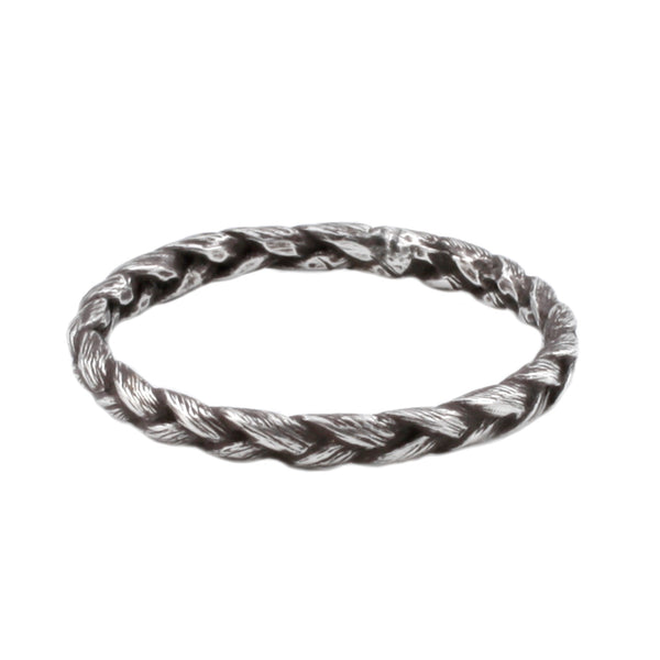 Medium Silver Braid Ring