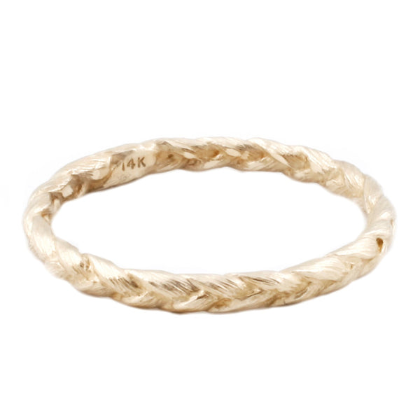 Medium Gold Braid Ring