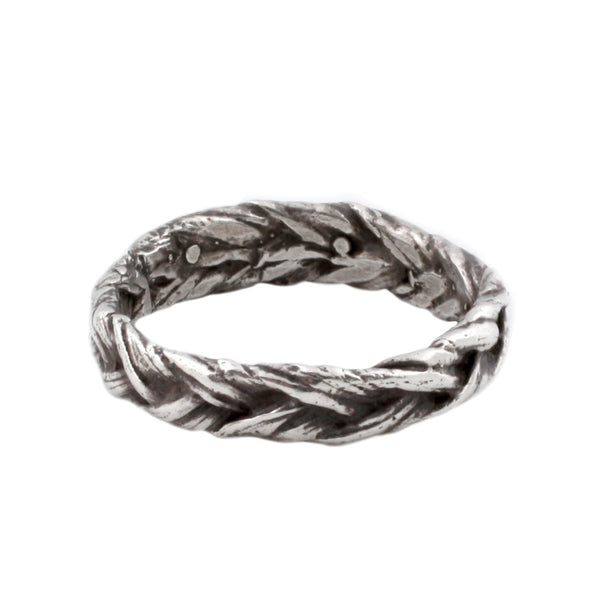Large Silver Braid Ring