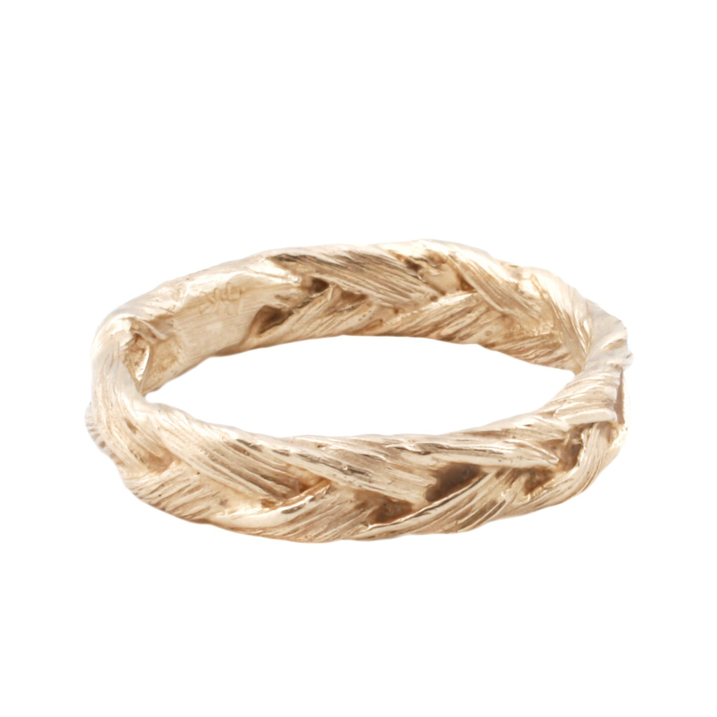Large Gold Braid Ring