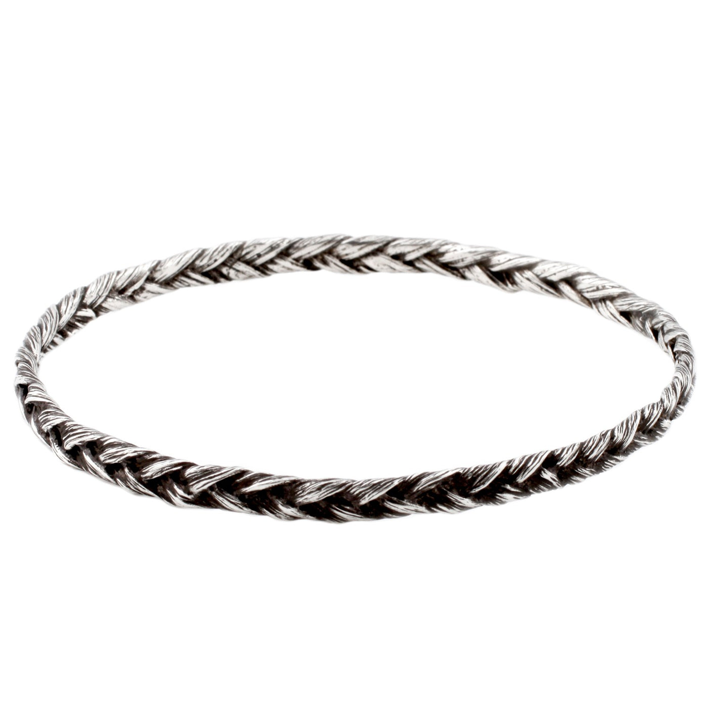 Silver Braid Bangle