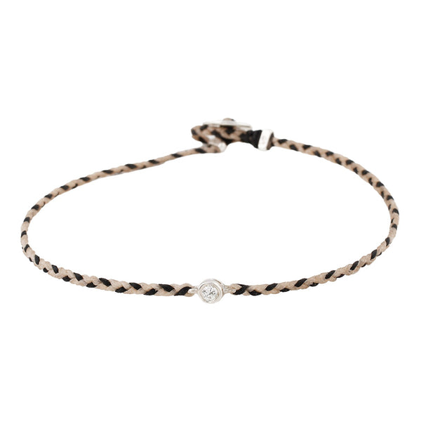 Scosha Black & Tan Diamond Friendship Bracelet