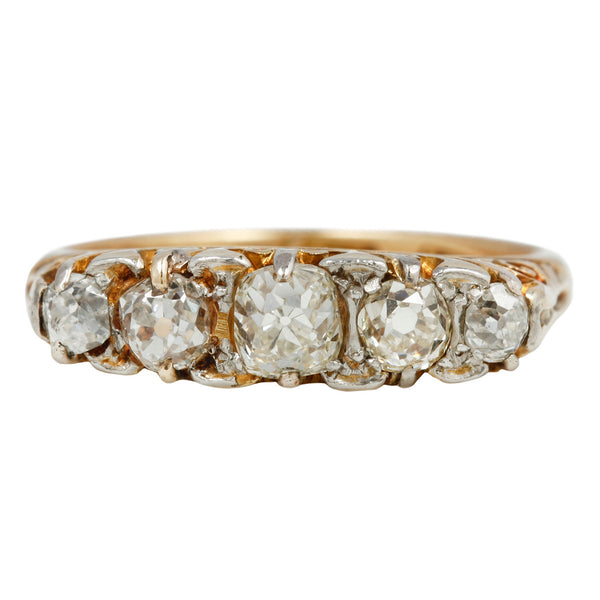 Victorian Five Diamond Ring