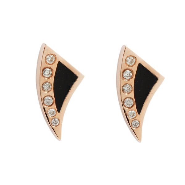 Deco Diamond Shark Fin Studs