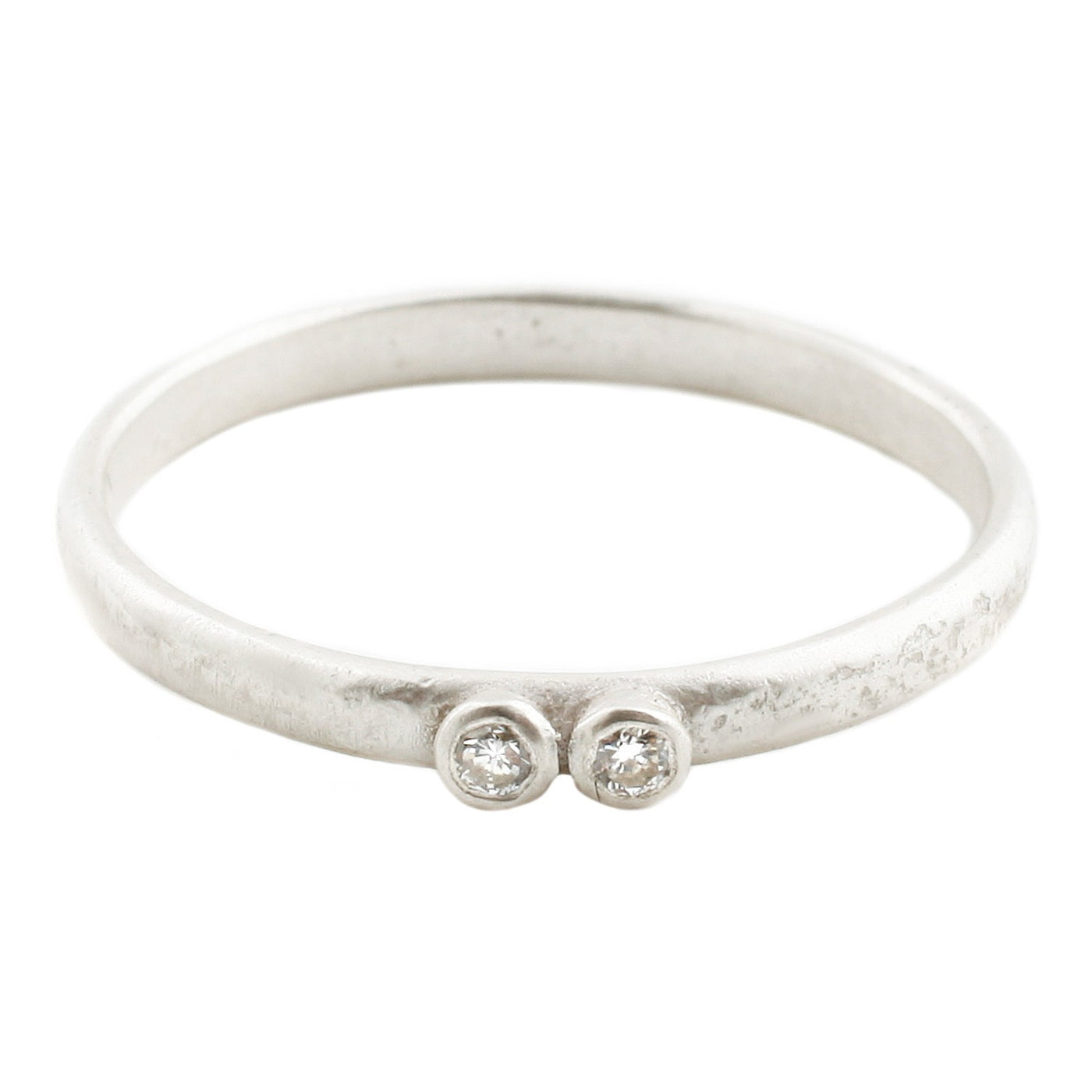 Sarah Swell Silver Two Diamond Band Ring