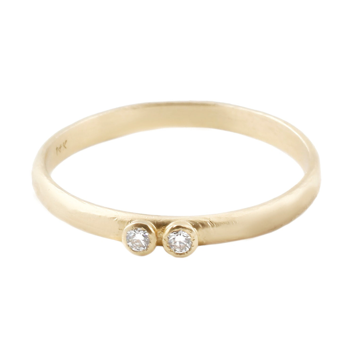 Sarah Swell Gold Two Diamond Band