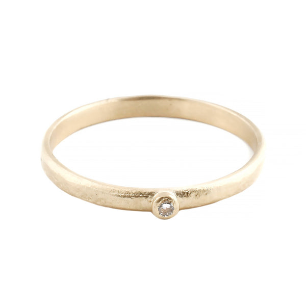 Sarah Swell Gold One Diamond Ring