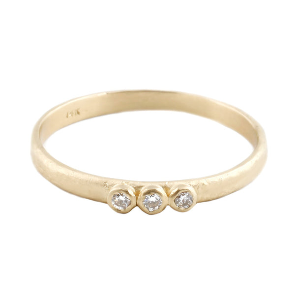 Sarah Swell Gold Three Diamond Ring