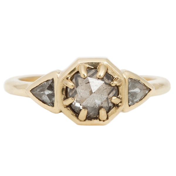 Lauren Wolf Mountain Mist Three Diamond Ring
