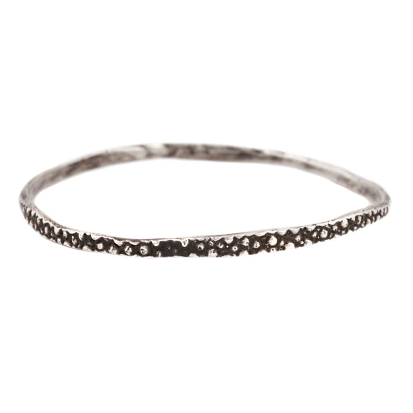 Stingray Bangle Oxidized Silver
