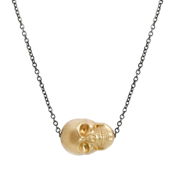 Anthony Lent Vanitas Gold Skull Necklace