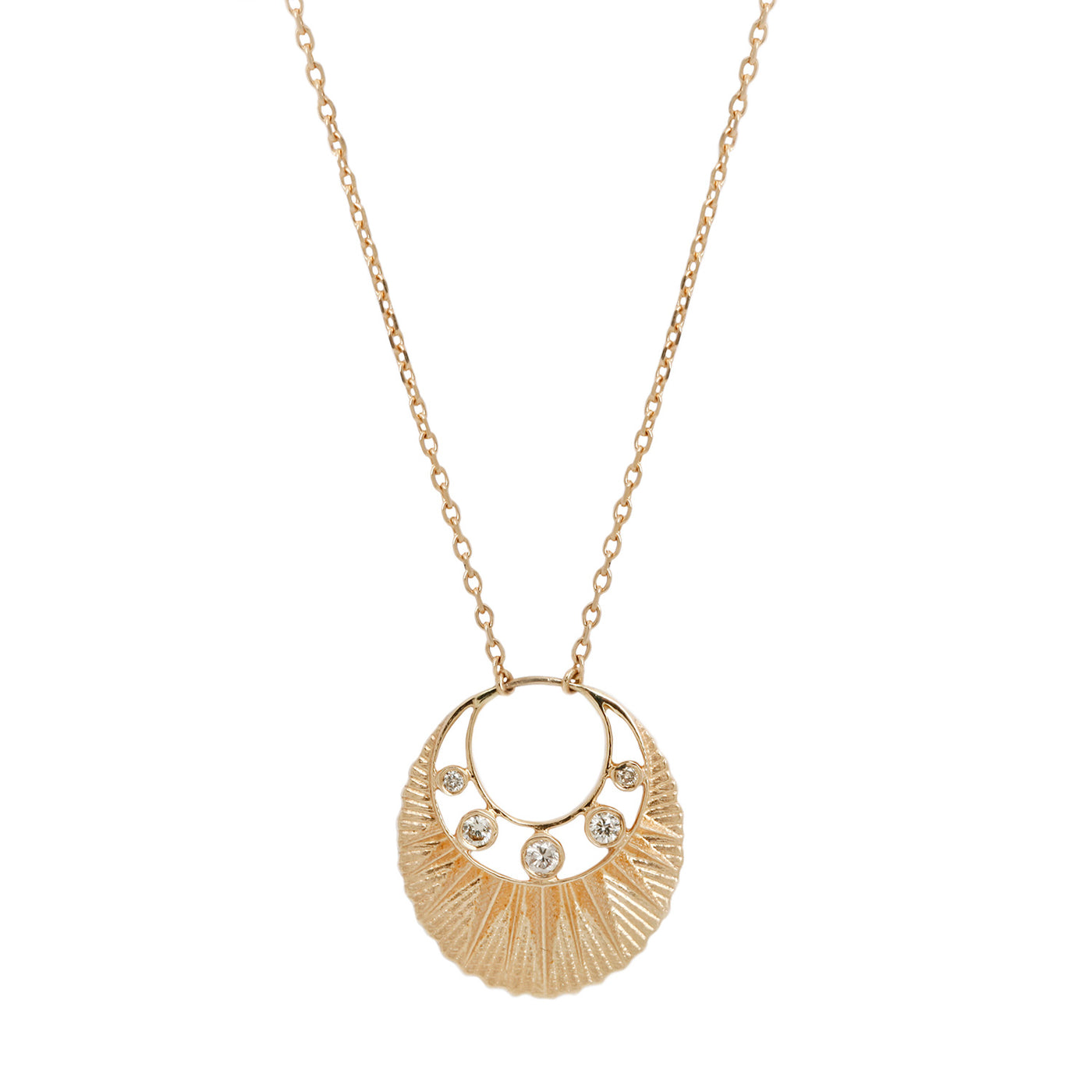 Celine D'Aoust Gold Sun Dial Necklace