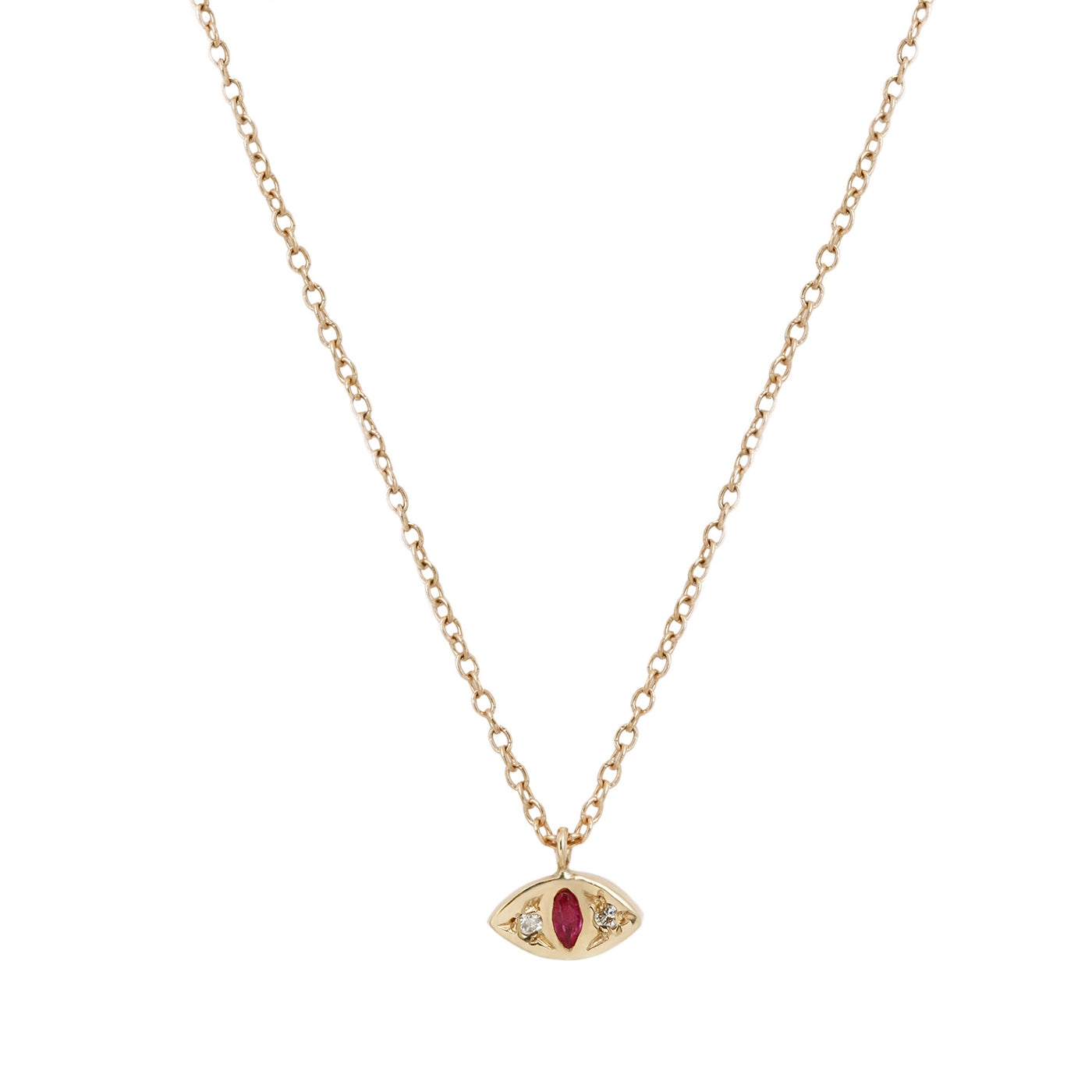 Scosha Ruby Cat Eye Necklace