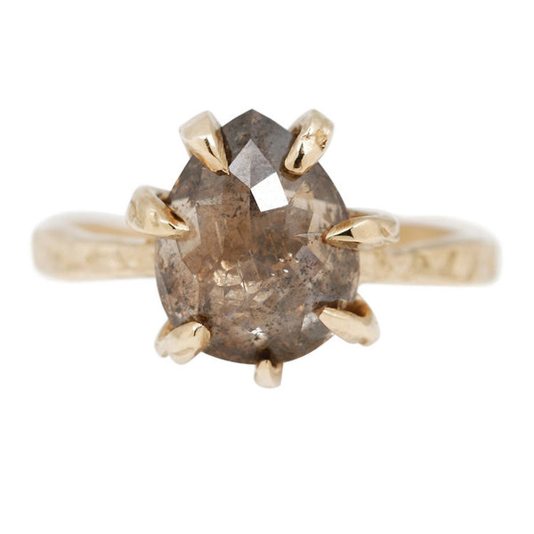 Champagne Diamond Stingray Claw Ring