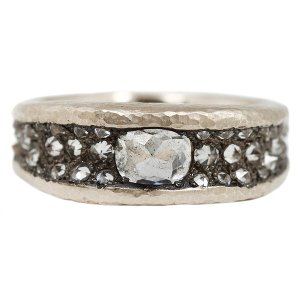 TAP by Todd Pownell Concave White Diamond Band Ring