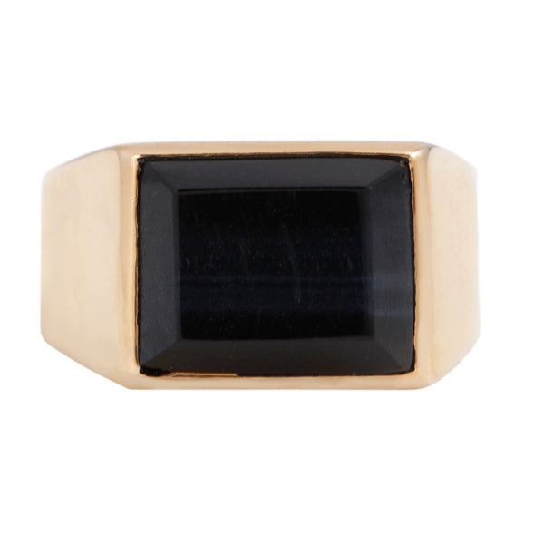 Dezso by Sara Beltran Tiger Eye Onyx Deco Ring