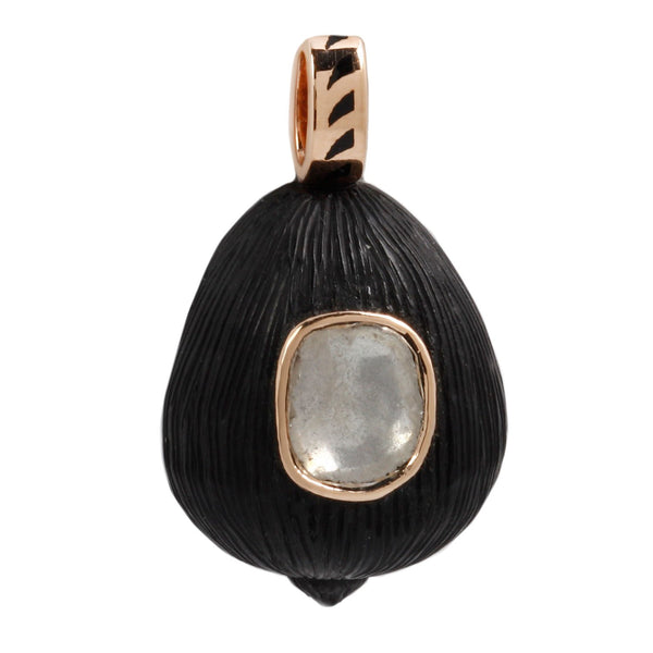 Dezso by Sara Beltran Polki Diamond & Ebony Shell Pendant