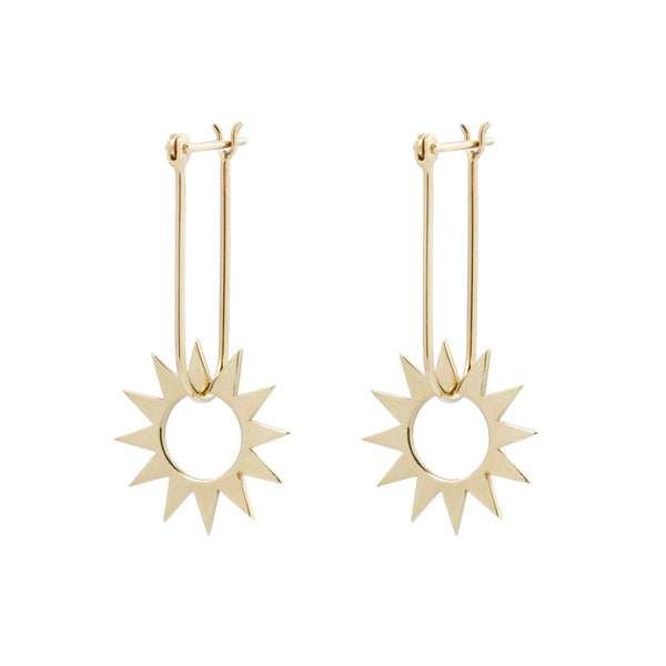 Latch and Spur Gold Earrings