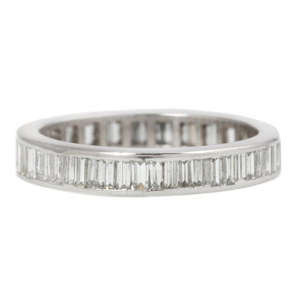 Straight Baguette Eternity Diamond Band