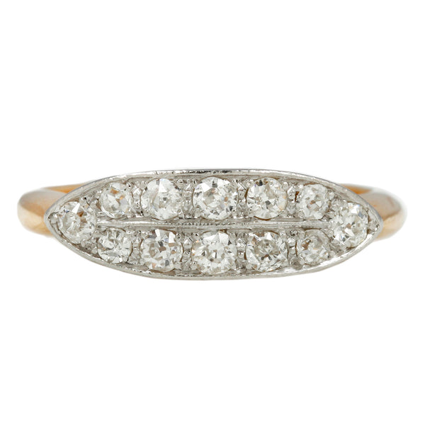 Diamond Double Row Boat Ring