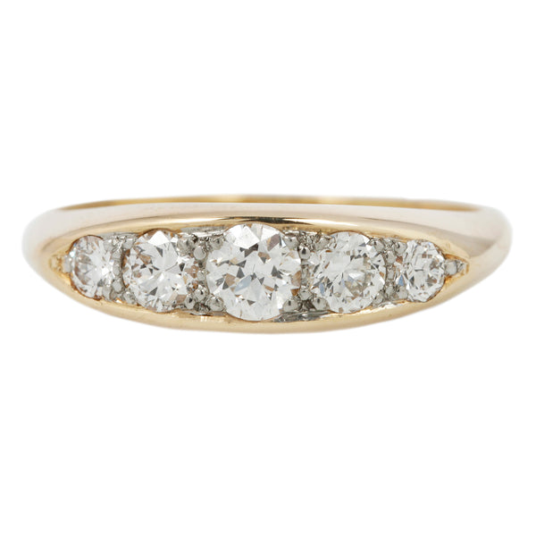 Five Diamond Boat Ring