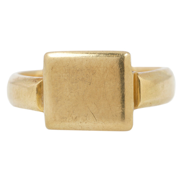 Gold Rectangle Signet