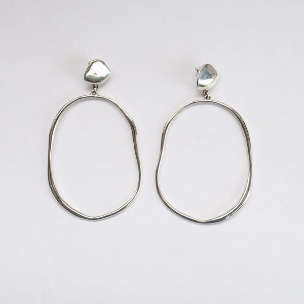 Faris Silver Vero Drop Earrings