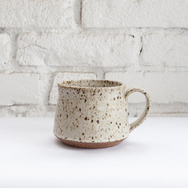Heather Levine Splatter Glaze Mug in White
