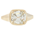 White Cushion Diamond Solitaire