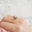 Salt & Pepper Contemporary Claw Ring