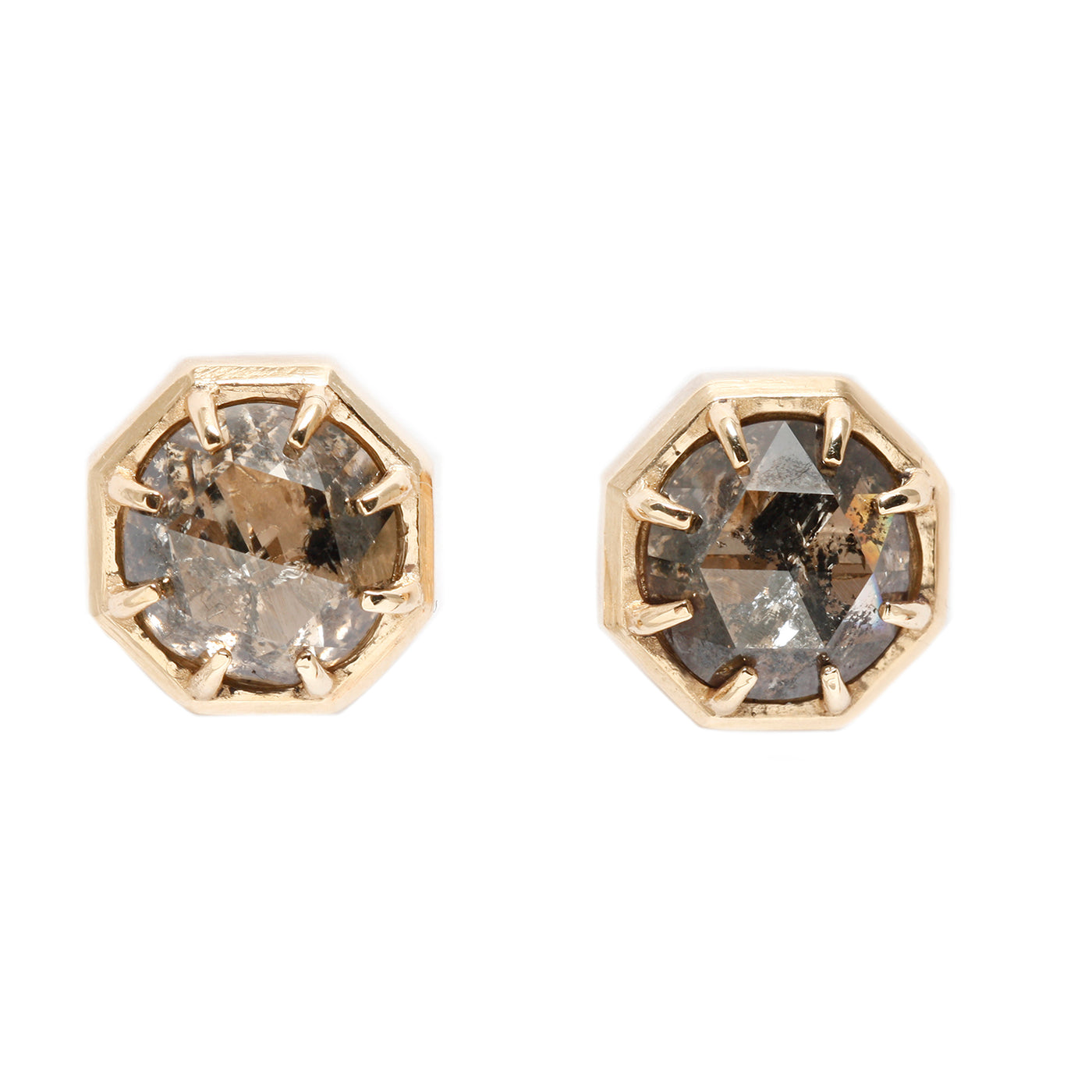 Lauren Wolf Jewelry Champagne Diamond Studs
