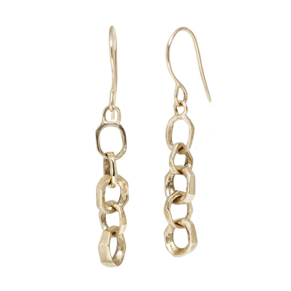 Lauren Wolf Gold Chain Link Drops