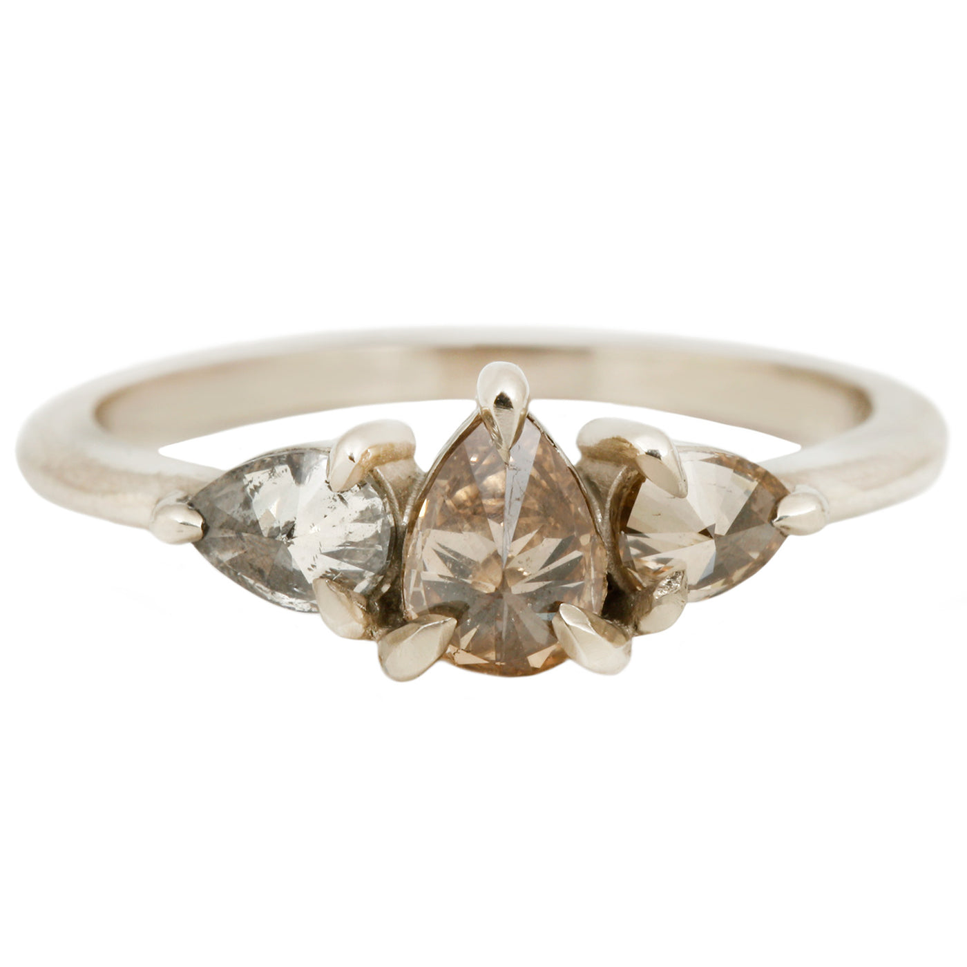 Lauren Wolf Jewelry Inverted Three Diamond Ring