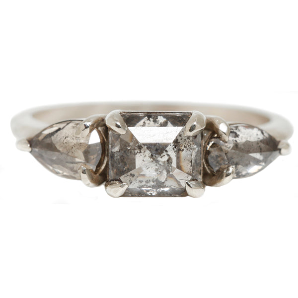 White Knight Diamond Ring