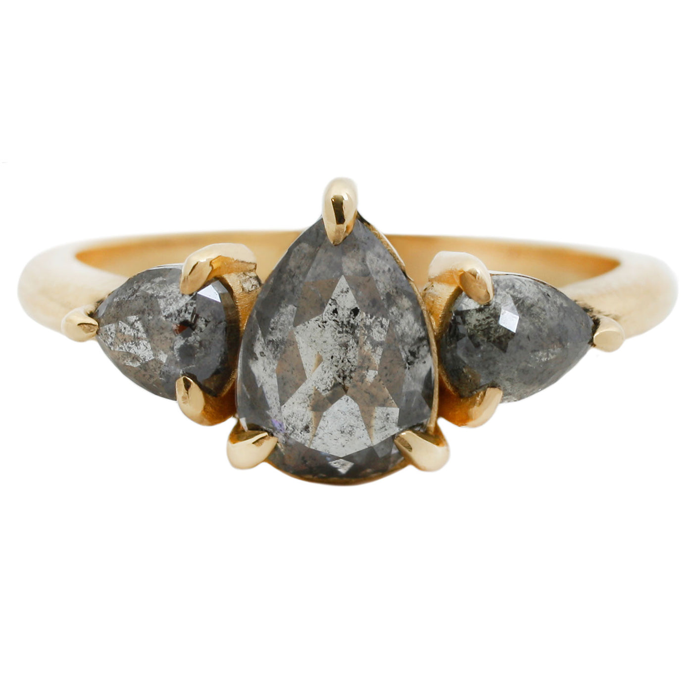 Peppered Pear Diamond Ring