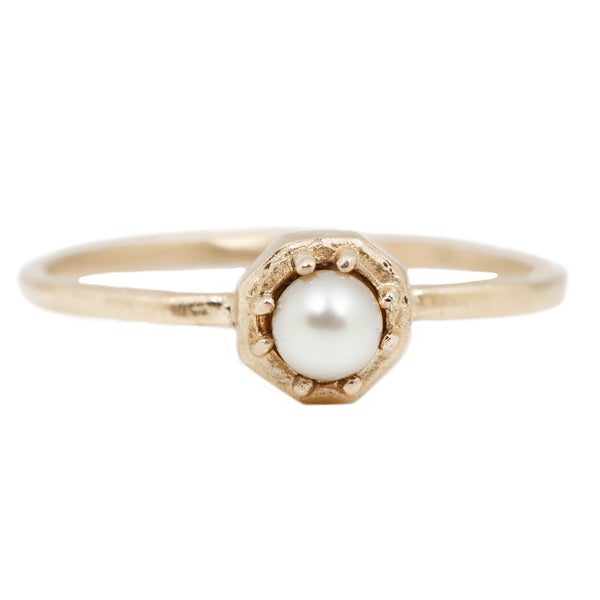 Tiny Akoya Pearl Ring