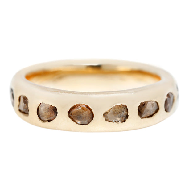 Lauren Wolf Freeform Eternity Band Brown Diamond