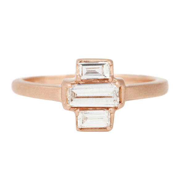 Deco Diamond Stack Ring