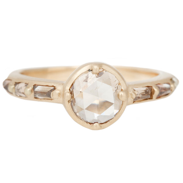 Rebecca Overmann Champagne Baguette Ring