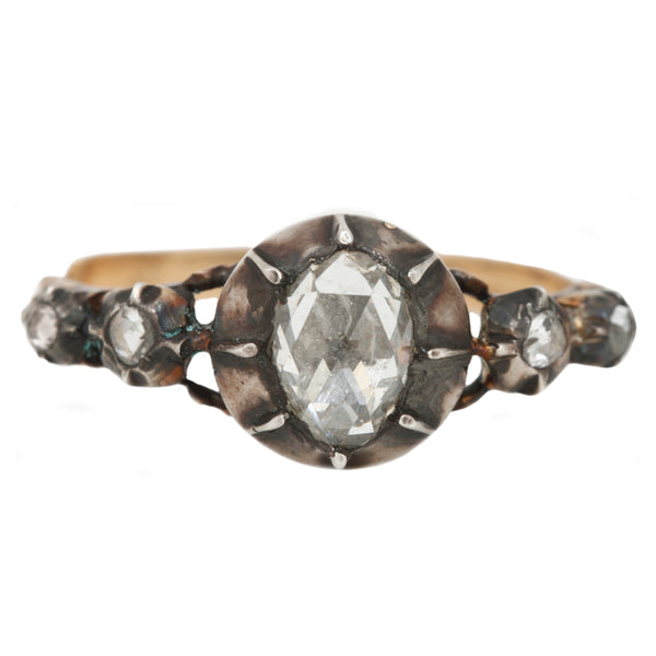 Mixed Metal Georgian Ring