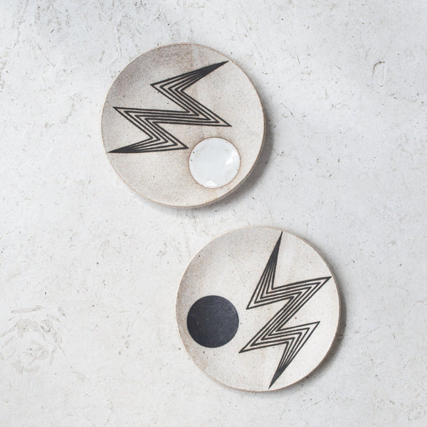 MQuan Lightening Bolt Dish in Indigo and White