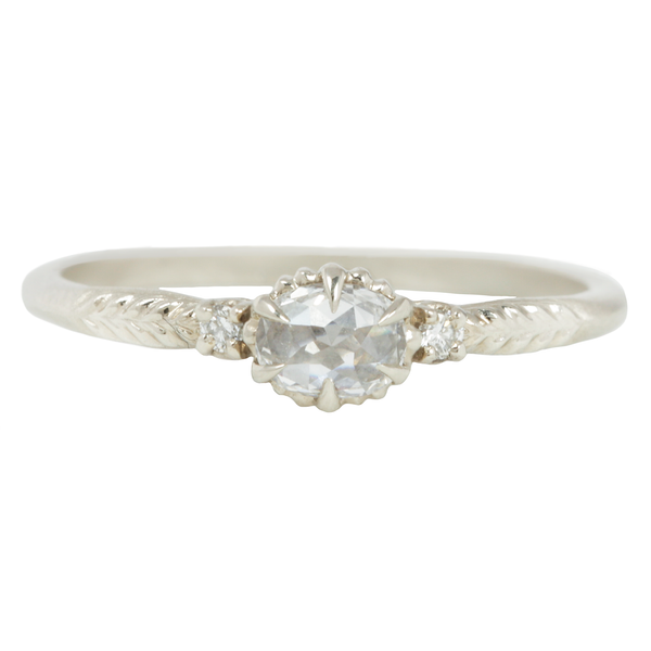 White Evergreen Diamond Cherie Ring