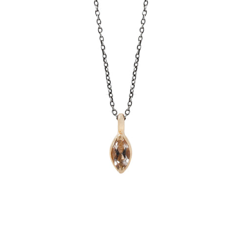 Lauren Wolf Jewelry Morganite Marquise Necklace