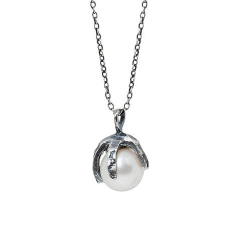 Silver Baroque Pearl Necklace