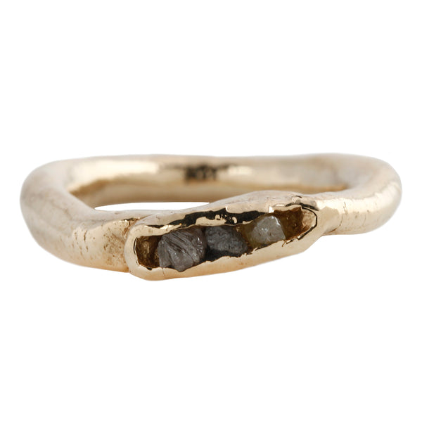 Patricia Raw Gray Diamonds Ring