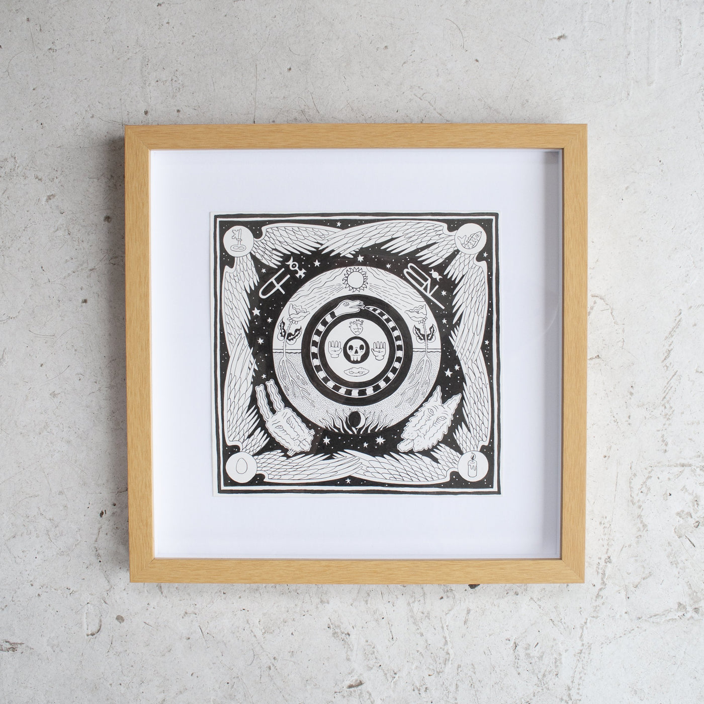 Nat Moonhill Mandala #2 Original Artwork