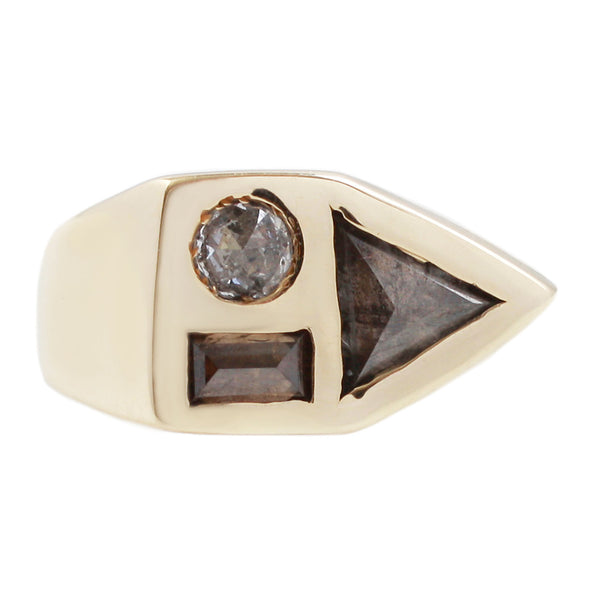 Diamond Bauhaus Ring