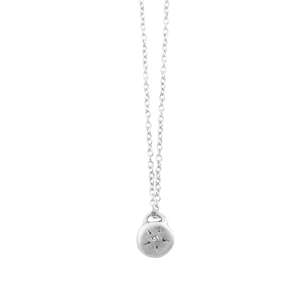 Scosha Silver Star Diamond Necklace
