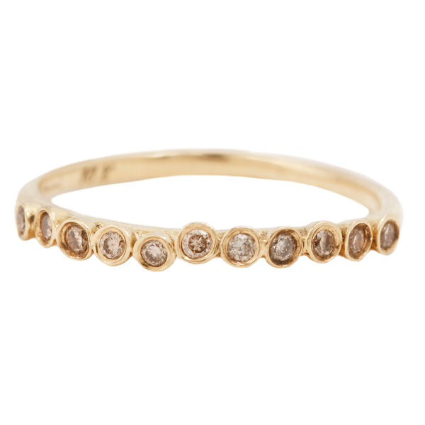 Brown Diamonds Laurel Wreath Band